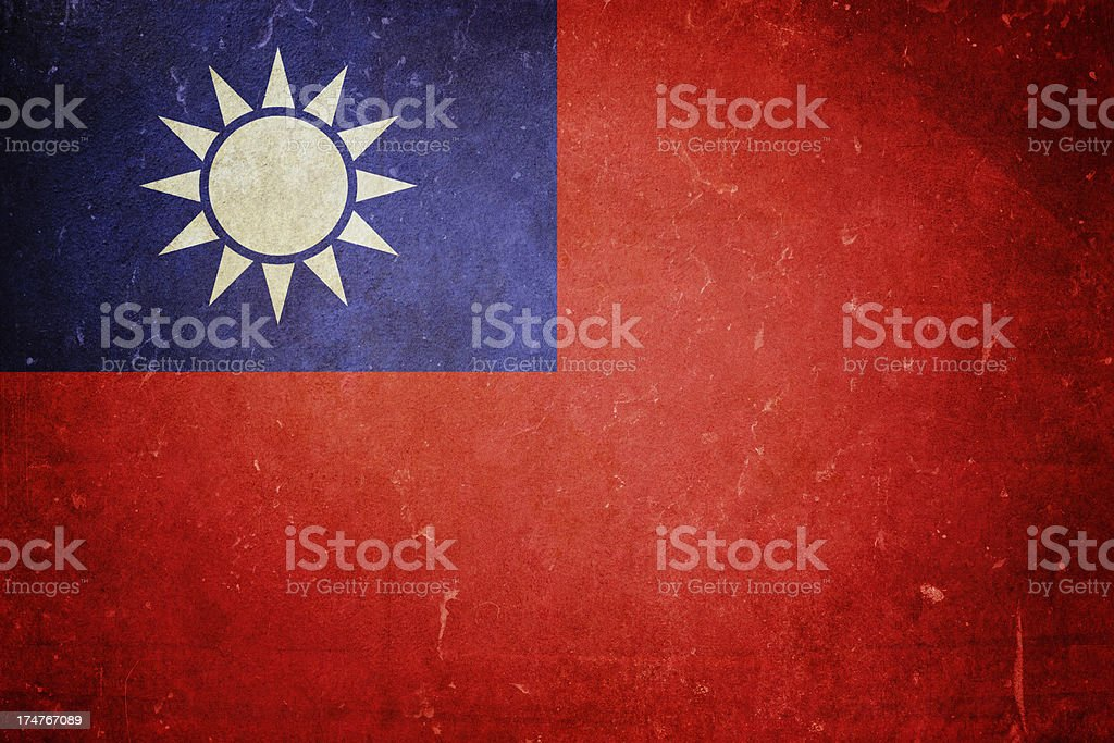 Flag of Taiwan royalty-free stock photo