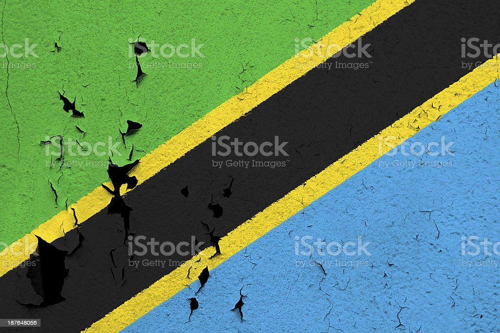 Flag of Tanzania stock photo