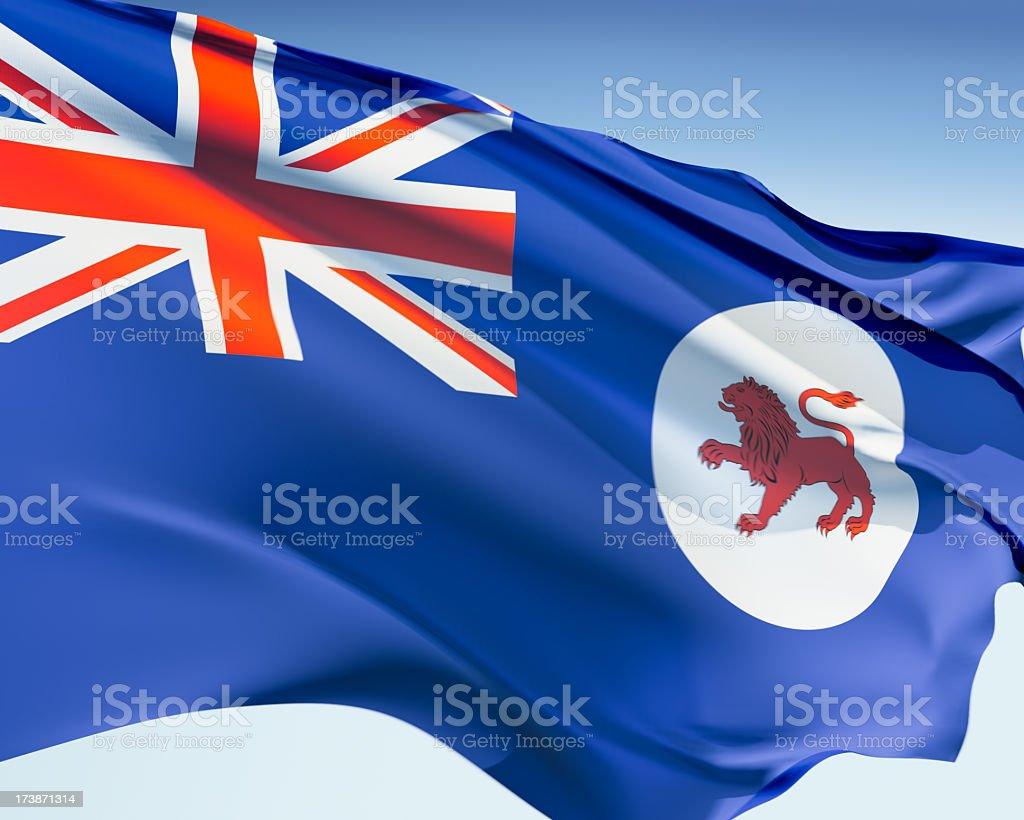 Flag of Tasmania royalty-free stock photo