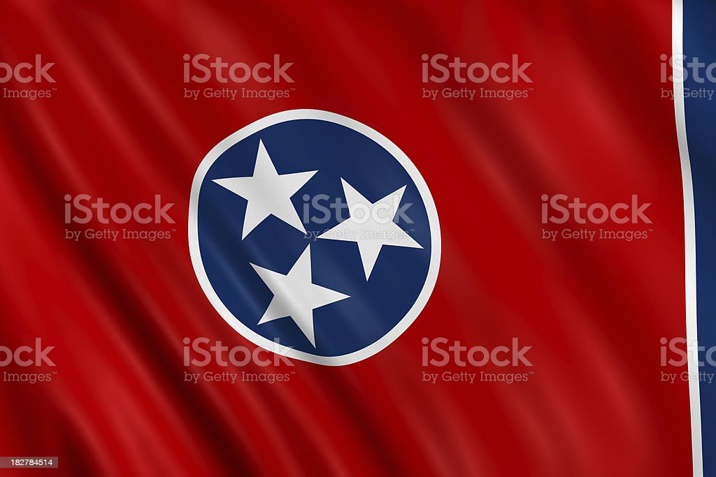 flag of tennesse royalty-free stock photo