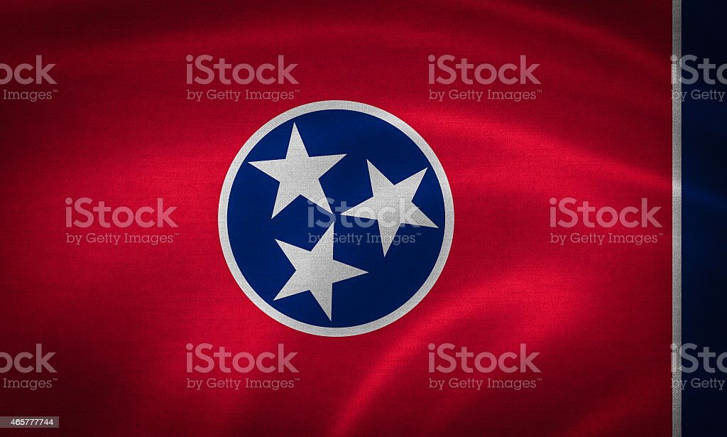 flag of tennesse stock photo