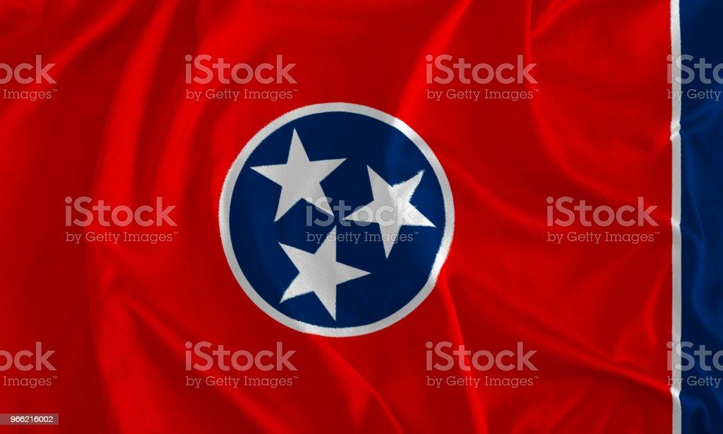Bandeira de fundo do Tennessee, o estado de voluntário - foto de acervo