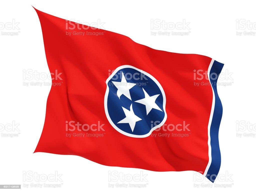 Bandeira do tennessee, estado dos Estados Unidos tremulando bandeira - foto de acervo