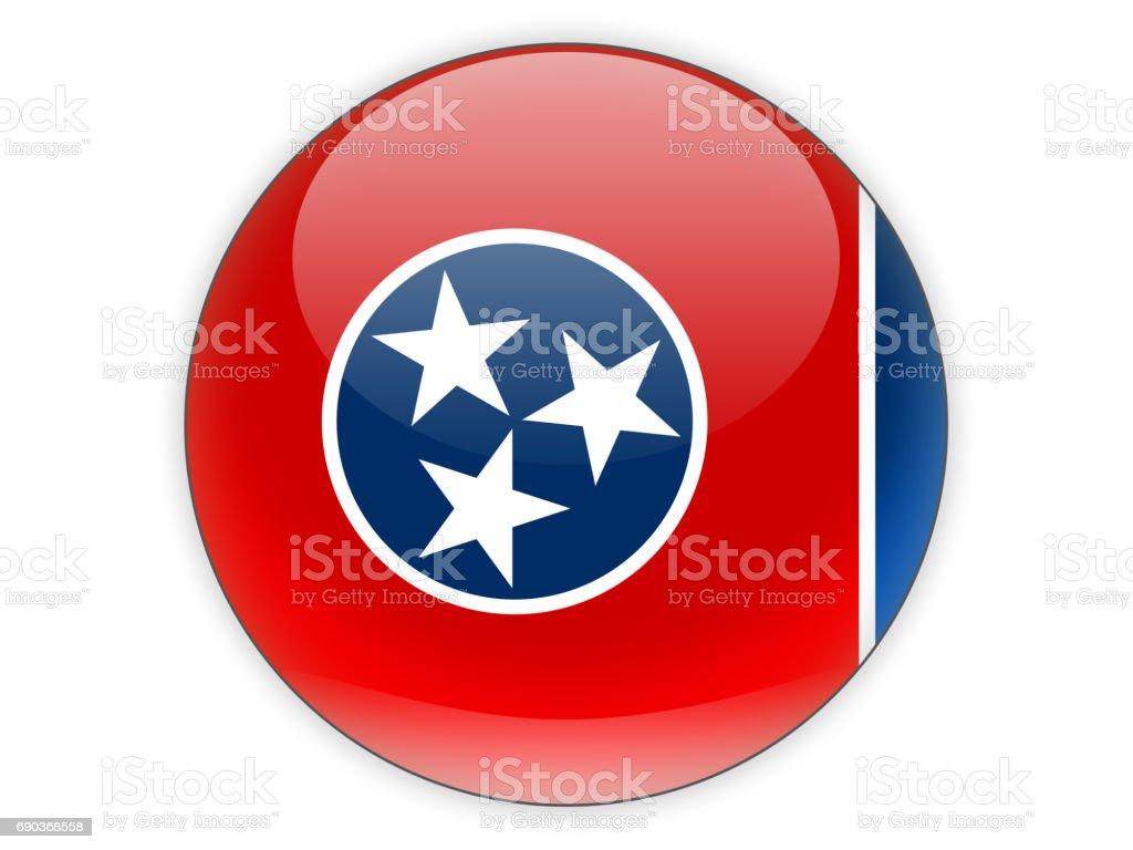 Bandeira do tennessee, o ícone de estado dos EUA - foto de acervo
