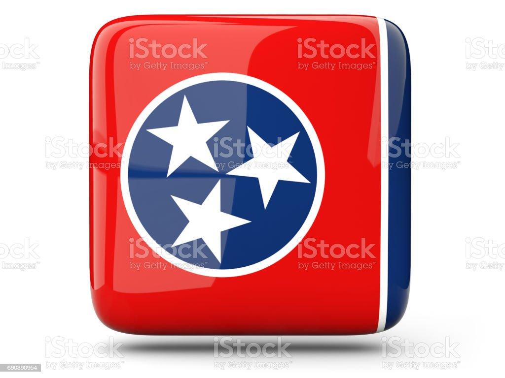 Bandeira do tennessee, ícone quadrado de estado dos EUA - foto de acervo
