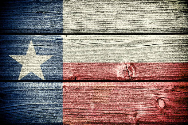 flag of  Texas flag of  Texas painted on old grungy wooden  background san antonio texas stock pictures, royalty-free photos & images