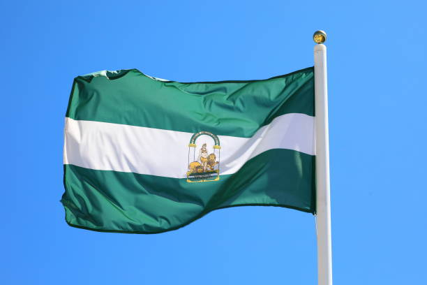 Flag of the Andalucia Province, Spain Flag of the Andalucia Province, Spain pejft stock pictures, royalty-free photos & images