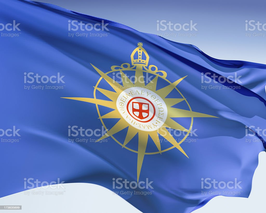 Flag of the Anglican Communion stock photo