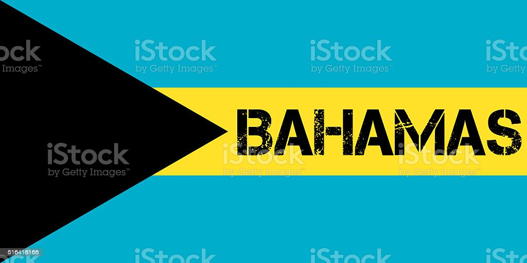 Flag of the Bahamas stock photo