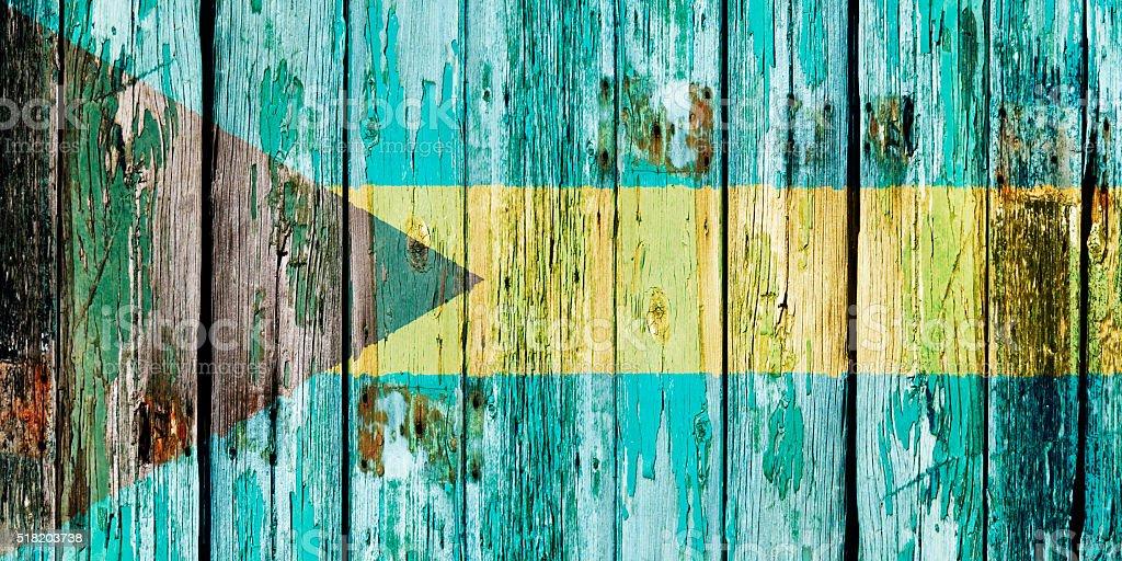 Flag of the Bahamas stock photo