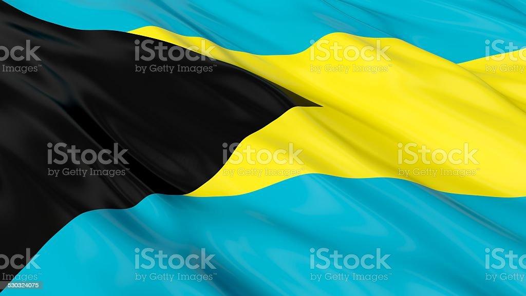 Flag of the Bahamas. stock photo