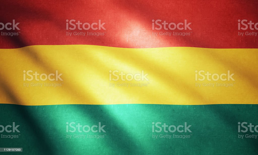 Flag of the Bolivia stock photo