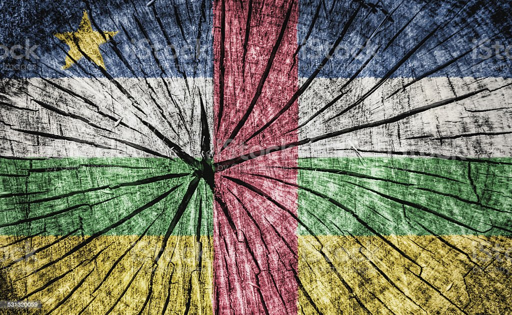 flag of the Central African Republic stock photo