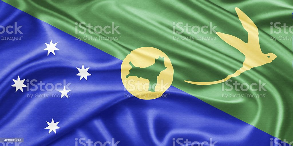 Christmas Island Flag.Flag Of The Christmas Island Stock Photo Download Image