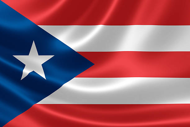 Flag of the Commonwealth of Puerto Rico - foto de stock