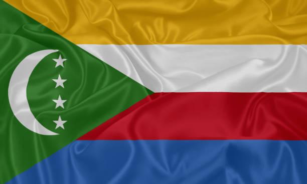 drapeau de la république fédérale islamique des comores - comores photos et images de collection