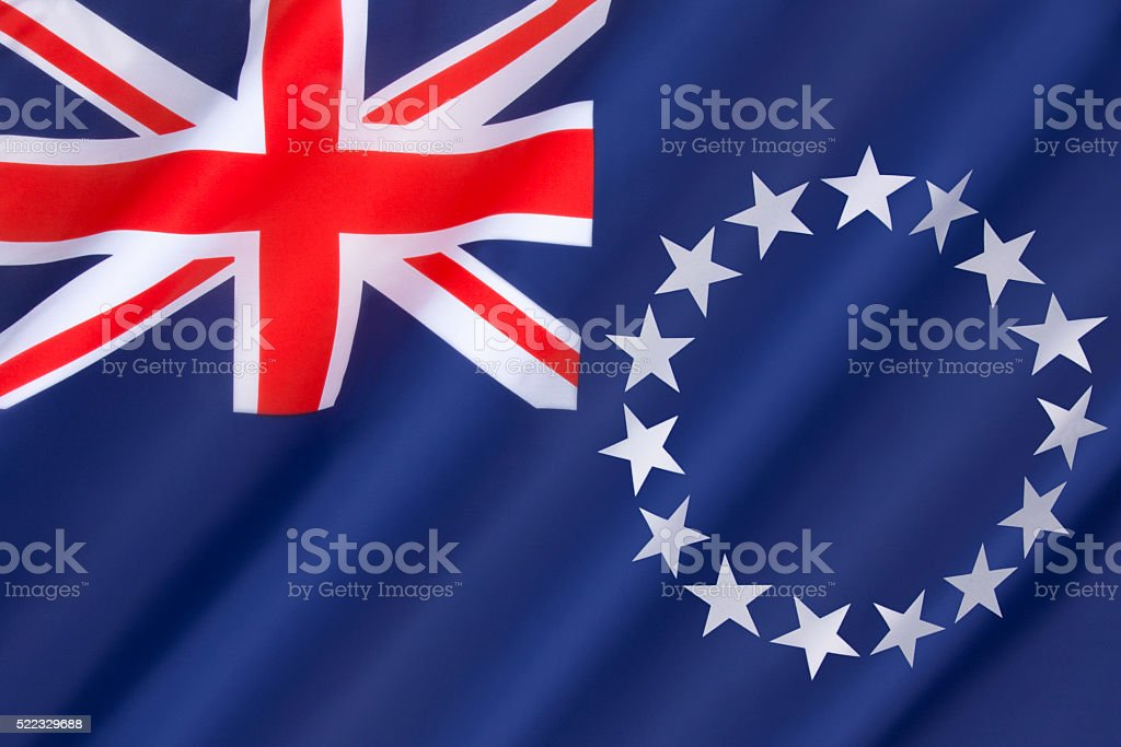 Flag of the Cook Islands stock photo