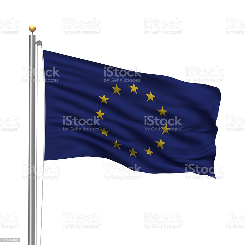 Flag of the European Union royalty-free stock photo