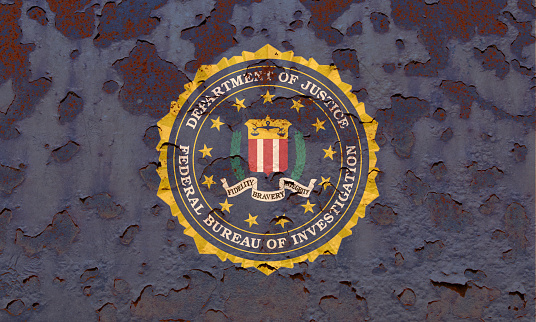 Flag Of The Federal Bureau Of Investigation Stock Photo ...