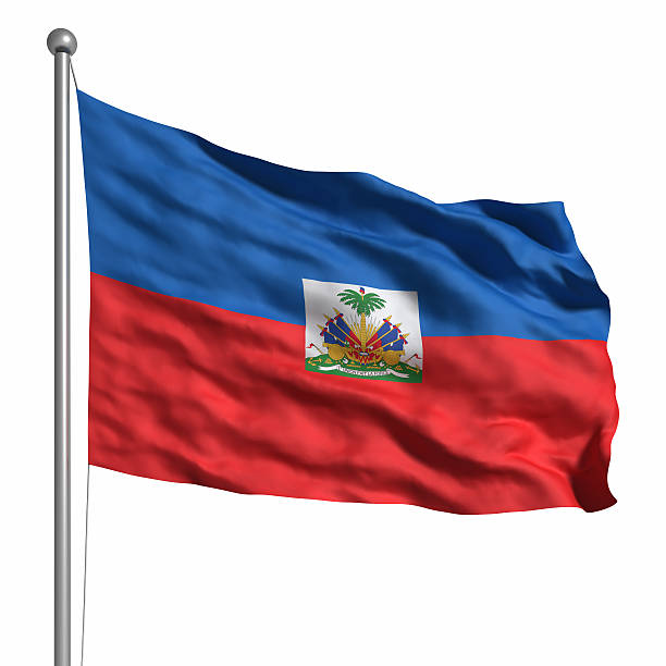 Flag of the Haiti (Isolated) Flag of the Haiti. Rendered with fabric texture (visible at 100%). Clipping path included. Haiti Flag stock pictures, royalty-free photos & images