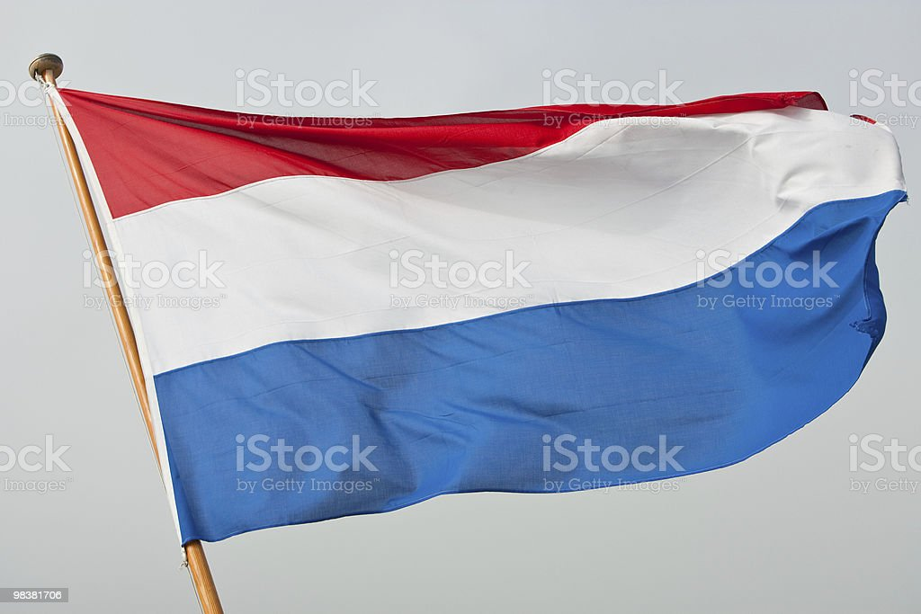 Flag of the Kingdom Netherlands / Holland royalty-free stock photo