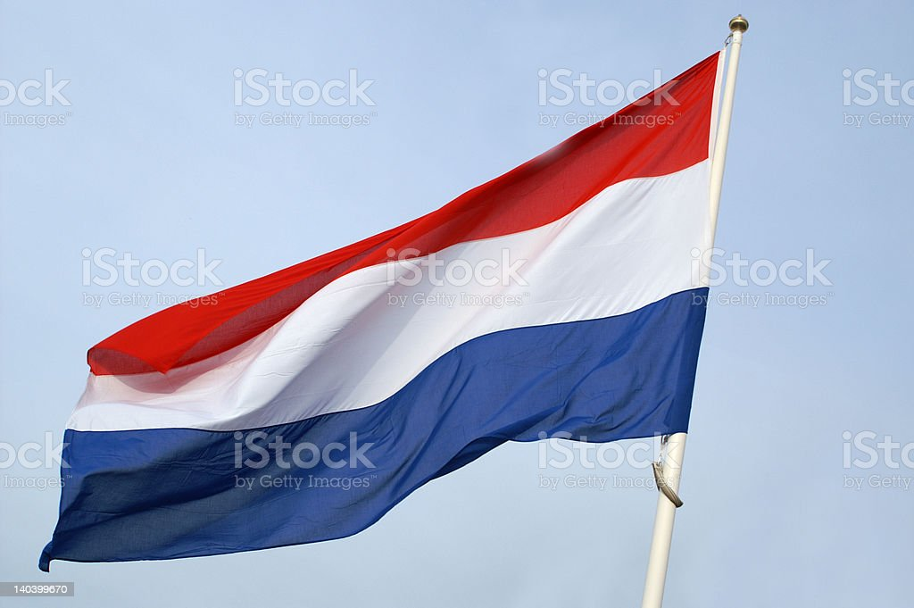 Flag of the Netherlands royalty-free stock photo
