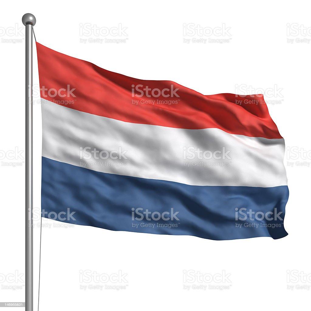 Bandera de los Países Bajos (aislado - foto de stock