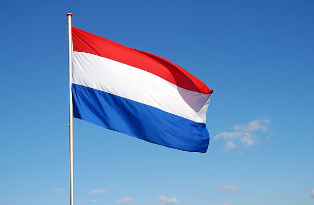 Flag of the Netherlands stock photo