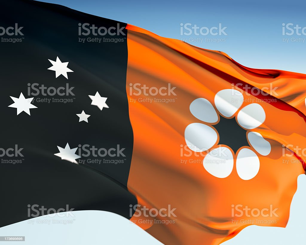 Flag of the Northern Territory royalty-free stock photo