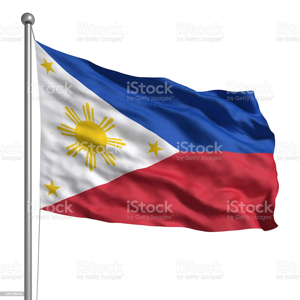 Flag of the Philippines (Isolated) stock photo