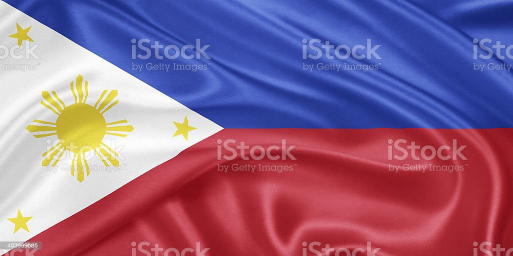 Flag of the Philippines stock photo