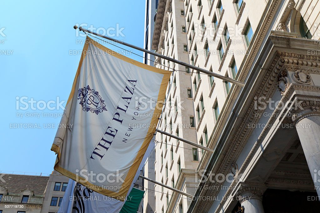 Flag of The Plaza stock photo