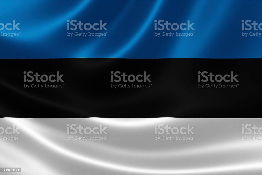 Flag of the Republic of Estonia stock photo
