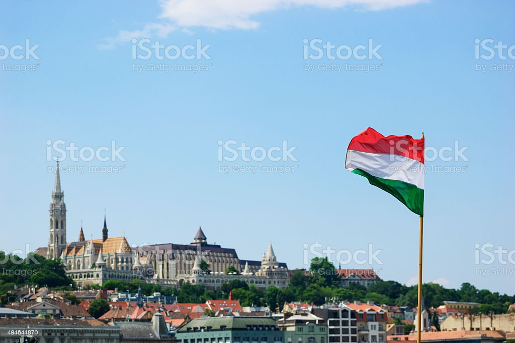 Flag of the Republic of Hungary. stock photo