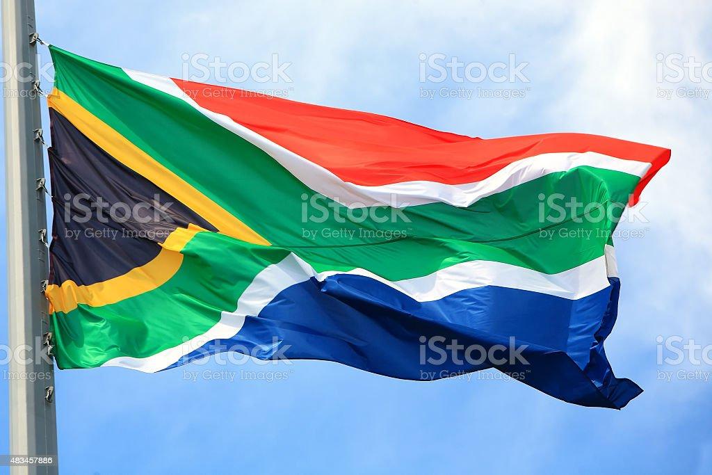 Bandeira da República da África do Sul - foto de acervo