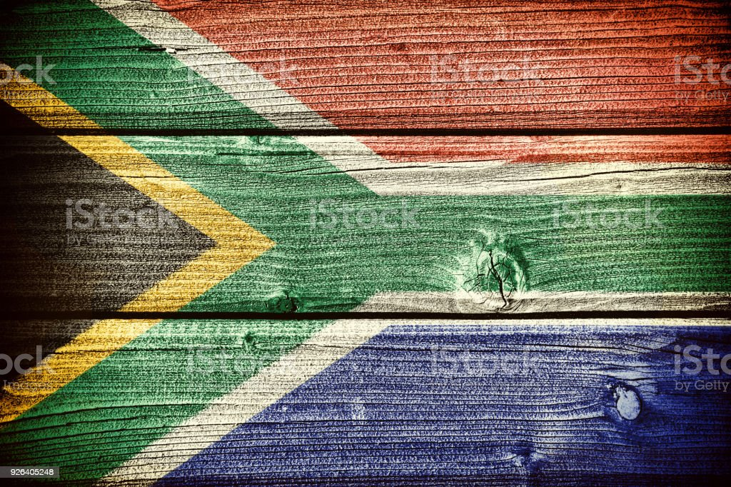 flag of the Republic of South Africa stock photo