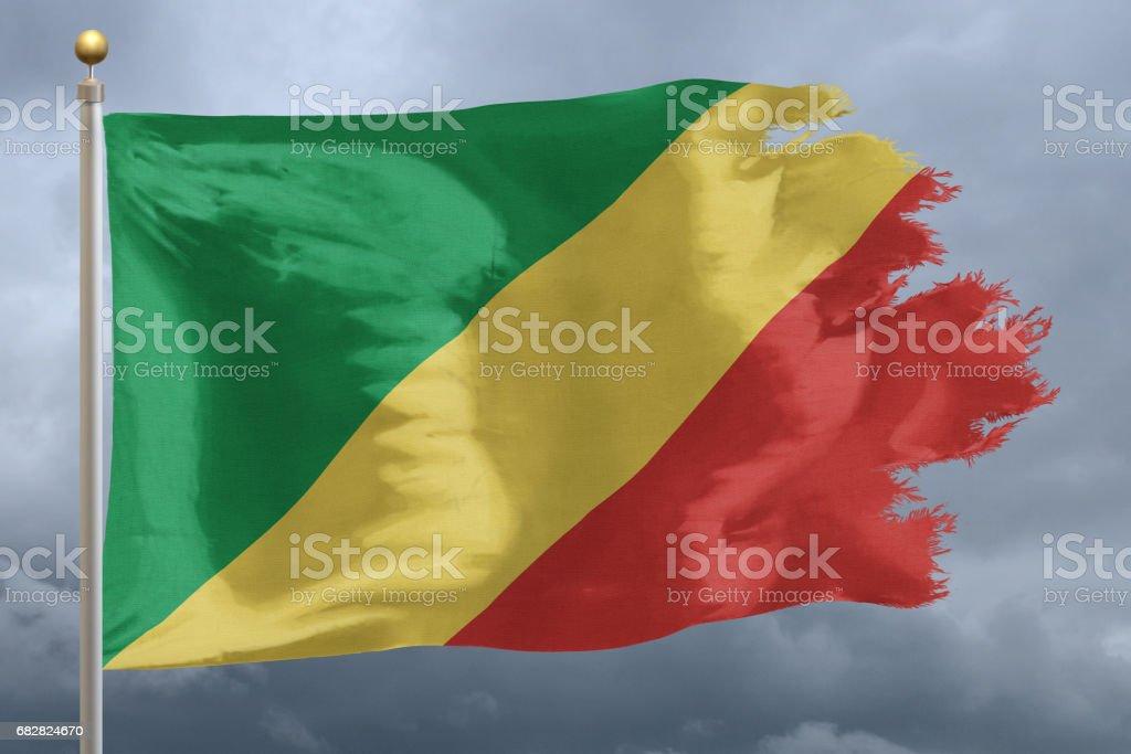 Flag of The Republic of the Congo Lizenzfreies stock-foto