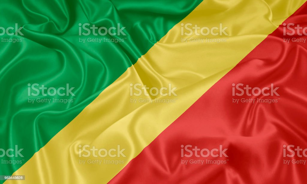 Flag of the Republic of the Congo stock photo