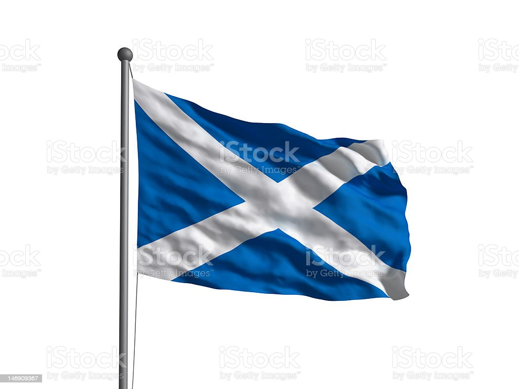 Flag of the Scotland (OLD) Newer version available. stock photo
