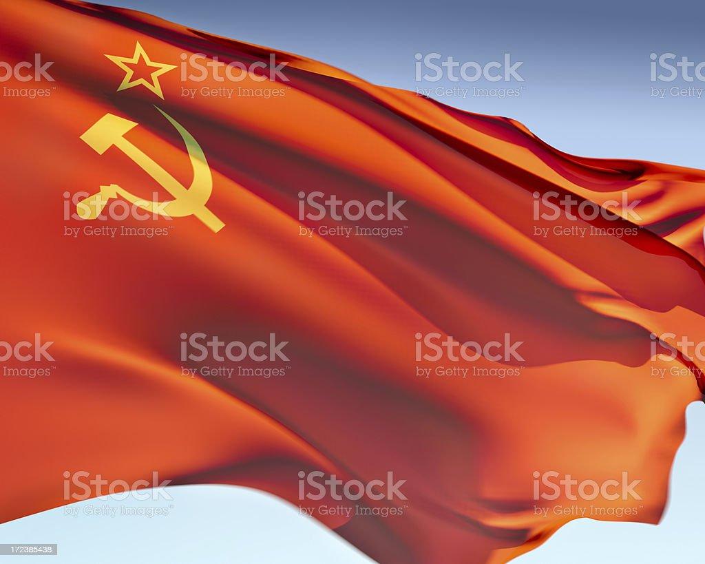 Flag of the Soviet Union royalty-free stock photo