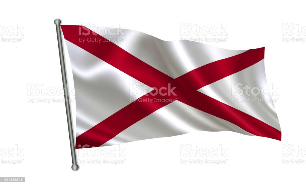"""Flag of the state Alabama. A series of """"flags of the United States of America"""" royalty-free stock photo"""