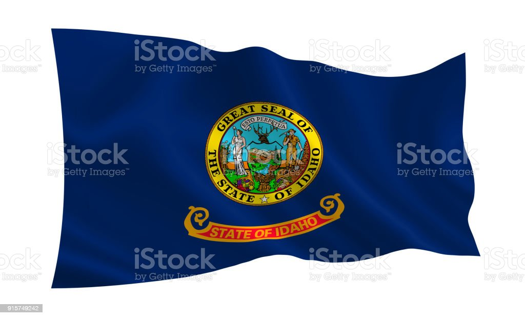 Flag of the state Idaho. A series of 'flags of the United States of America' (The country - United States of America. USA) stock photo
