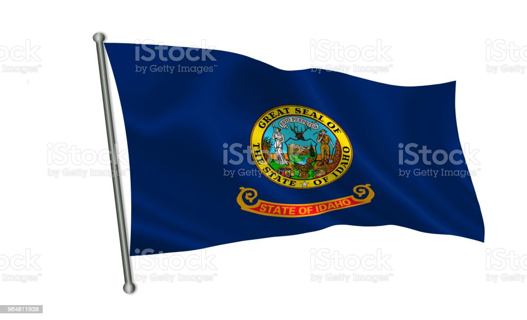 Flag of the state Idaho. A series of 'flags of the United States of America' royalty-free stock photo