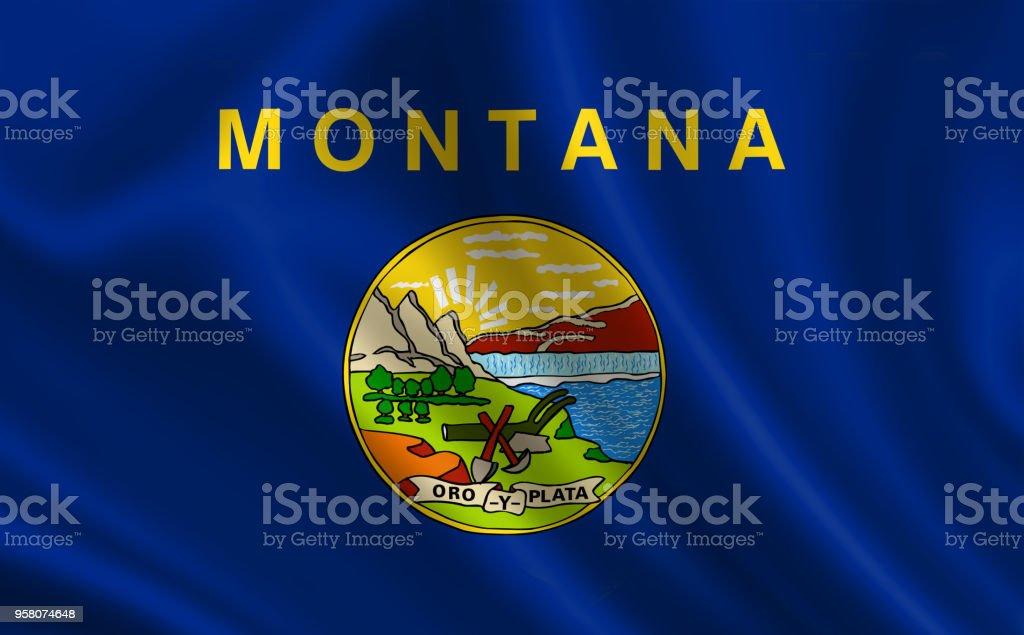 Bandeira do estado de Montana. Uma série de