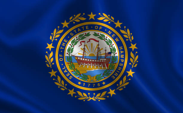 """Flag of the state New Hampshire. A series of """"flags of the United States of America"""" Flag of the state New Hampshire. A series of """"flags of the United States of America"""" new hampshire stock pictures, royalty-free photos & images"""