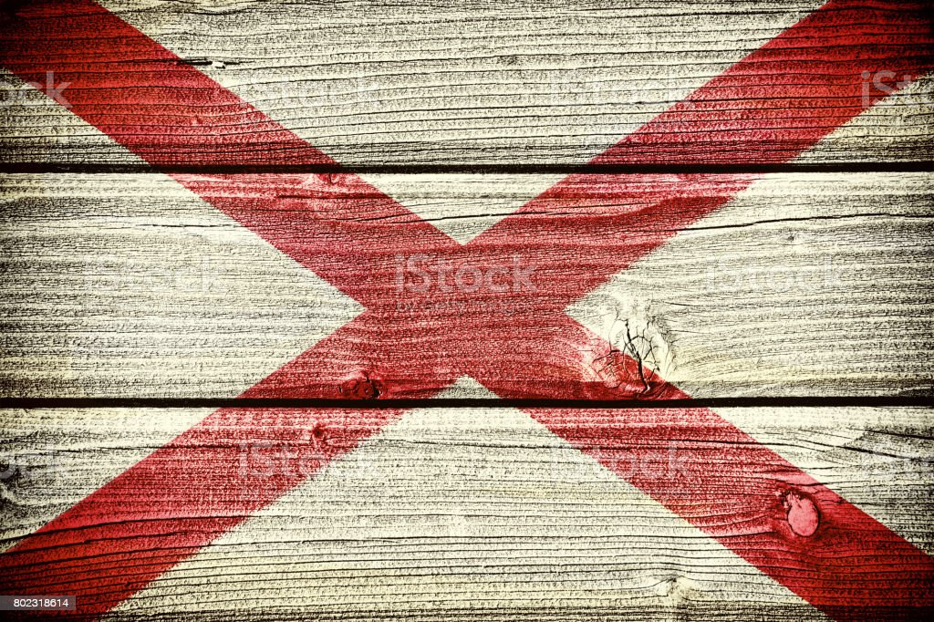 flag of the state of Alabama stock photo
