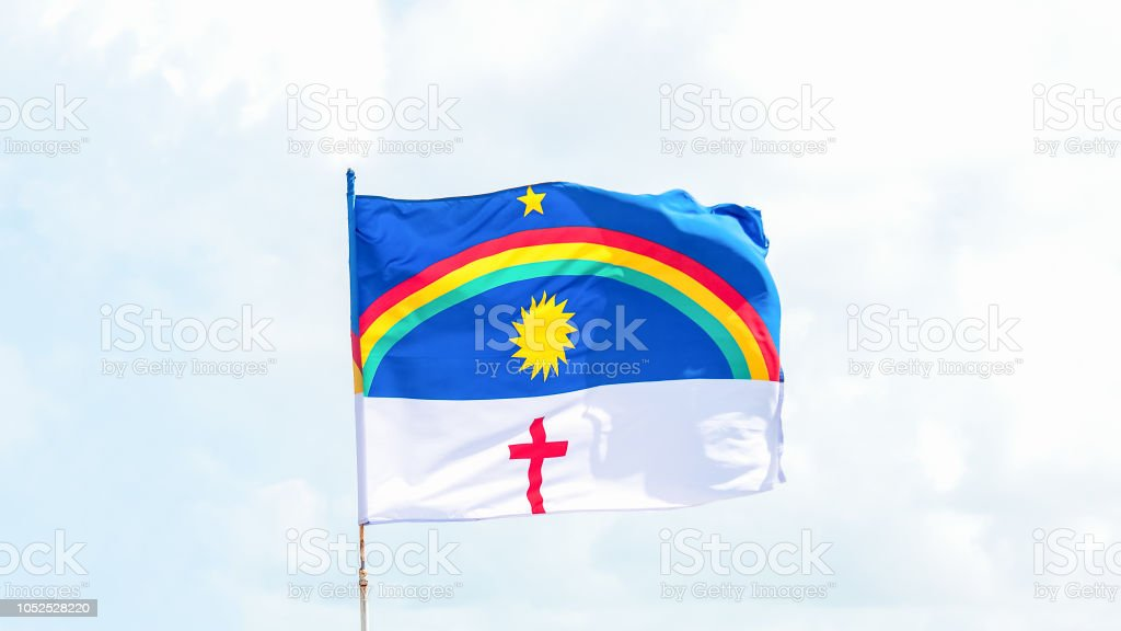 Bandeira do estado de Pernambuco, Brasil - foto de acervo