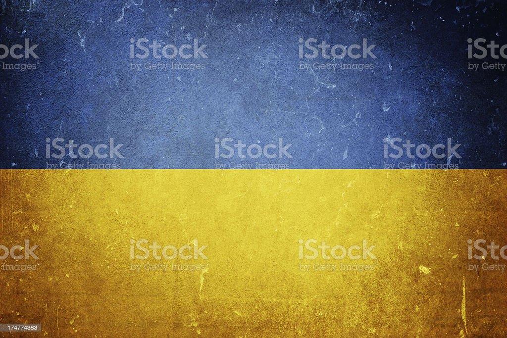 Flag of the Ukraine stock photo