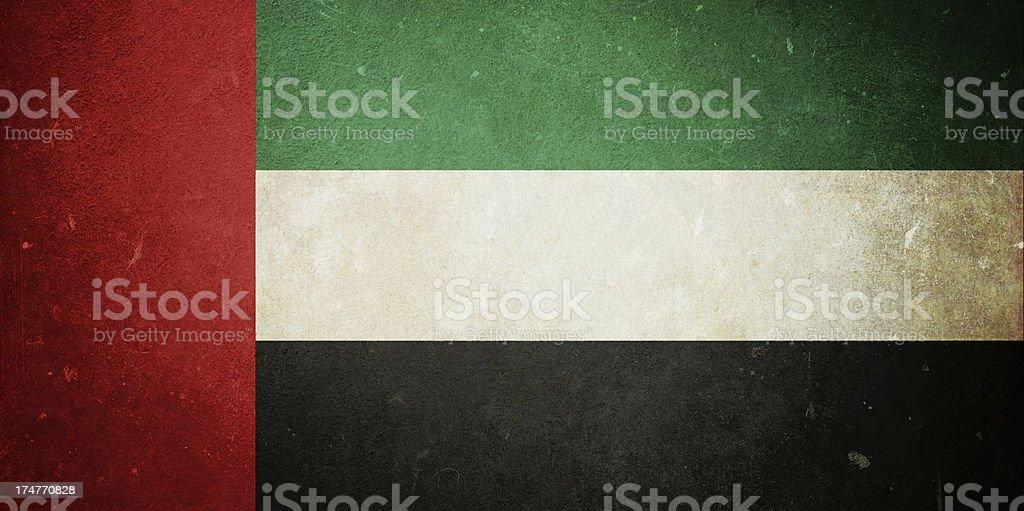 Flag of the United Arab Emirates royalty-free stock photo