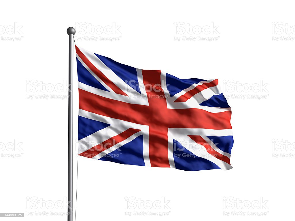 Flag of the United Kingdom (OLD) Newer version available. stock photo
